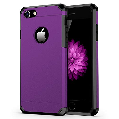 iPhone 7/8 Case ImpactStrong Heavy Duty Dual Layer Protection Cover Heavy Duty Case for iPhone 7/8 Purple