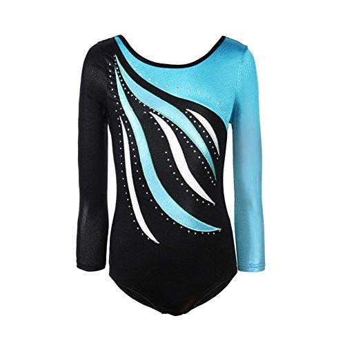 Brightup Leotards für Mädchen, Gymnastik Trikots Sleeveless Ballett Shining Dance Wear … (7-8 Jahre, B1)