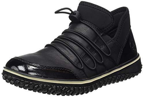 Rieker Damen L4262 Slip On Sneaker, Schwarz (Black/Schwarz/Schwarz/ 00 00), 40 EU