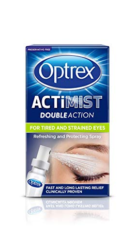 Optrex Double Action Actimist Eye Spray for Tired & Strained Eyes, 10ml