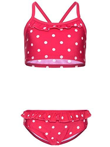 NAME IT meisjes bikini roze Bright Rose NitZarina badmode kinderen punten