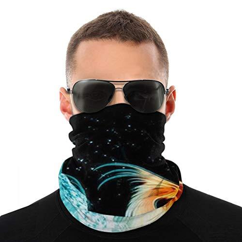 OUYouDeFangA Ice Water Fire Phoenix Headwrap Unisex Multifunción Headwear Poliéster de secado rápido suave banda para el cuello, tocado al aire libre, bufanda mágica para la cabeza, pañuelo para el cuello, polainas para hombres y mujeres