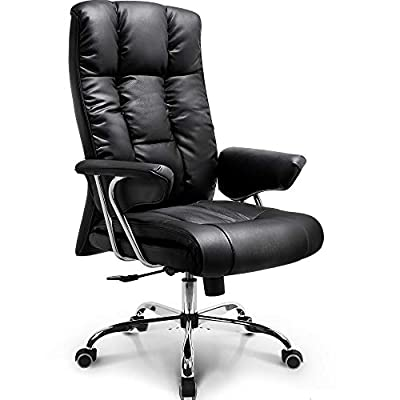 NEO Chair Office Chair Computer Desk Chair Gaming - Ergonomic High Back Cushion Lumbar Support with Wheels Comfortable Upholstered Leather Racing Seat Adjustable Swivel Rolling Home Executive