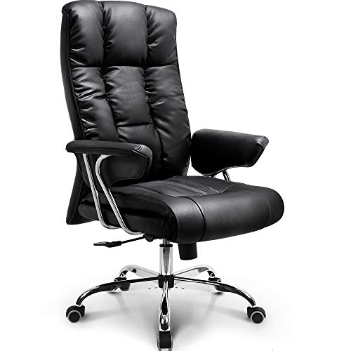 NEO Chair Office Chair Computer Desk Chair Gaming - Ergonomic High Back Cushion Lumbar Support with Wheels Comfortable Black Upholstered Leather Racing Seat Adjustable Swivel Rolling Home Executive…