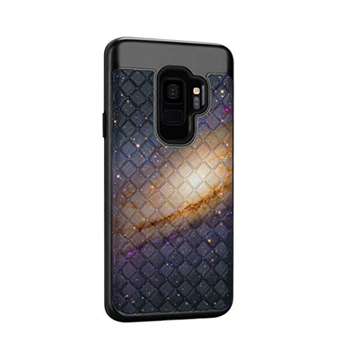 OYU Case Compatible with Samsung Galaxy S9 [Cute Woven Textured Shockproof Hybrid Slim Fit Protection Black Case New Generation Phone Cover] for Galaxy S9 SM-G960 (Space Milkyway)