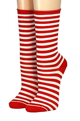 CRÖNERT Socken Longsocks Söckchen im Design Kieler Ringel Socken 18808 (39/42, rot-weiß 1580)