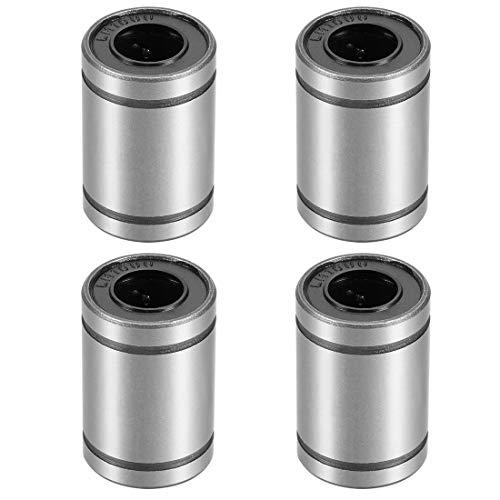 uxcell LM10UU Linear Ball Bearings 10mm Bore 19mm OD 29mm Long for CNC Machine 3D Printer 4pcs