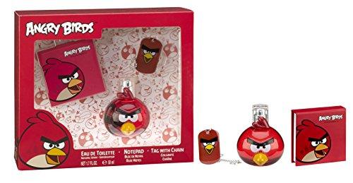 ANGRY BIRDS Coffret Cadeau pour enfant Red Bird Eau de Toilette 50 ml + Bloc Notes + Collier