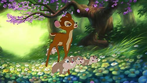QIQILE Kit De Bordado De Diamantes 5D Para Manualidades, Galería De Carteles'Bambi' Iii Estilo Punto De Cruzdecoración Para La Pared Del Hogar 40 X 60 Cm