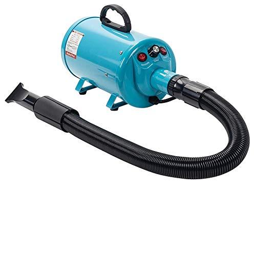 Display4top Pantalla Profesional 2800 W Low Noise Perros Cuidado secador Calor Ajustable y Velocidad (azul)