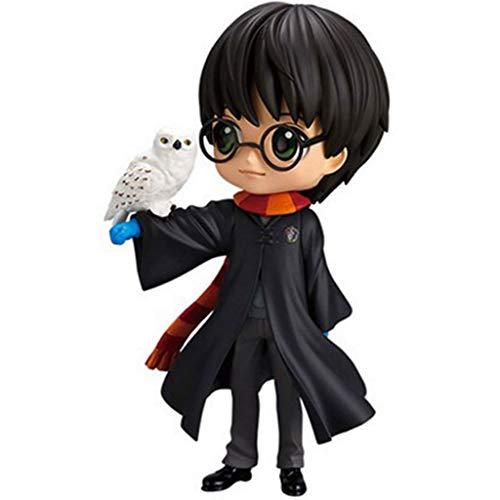 ZRY Harry Potter Figura Harry y Hedwig Q Posket Ropa Gris Decoraciones Modelo Popular de Dibujos Animados de Juguete de Regalo de Harry Potter Ordenadores Estilo Lindo muñeca Adornos