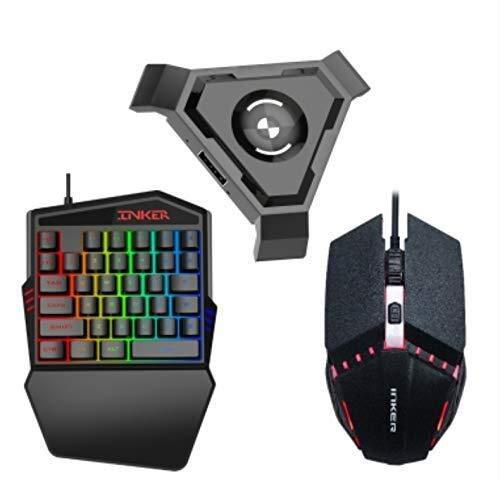 AOIWE Teclado de ratón Mobile Gamepad Controller Gaming Bluetooth Keyboard Mouse CONTERVER para el teléfono Android Adaptador Bluetooth Apple Universal