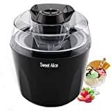 Ice Cream Maker Machine | Automatic Make Delicious Ice Cream, Yogurt and Sorbet Machine | BPA-free 1.5 Quart Freezer Bowl, with Auto Shut-off Timer | Black