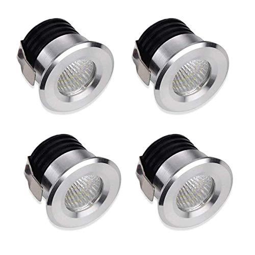Ashley GAO Lámpara LED de techo empotrada pequeña para vitrina en miniatura, mini foco brillante luz blanca cálida