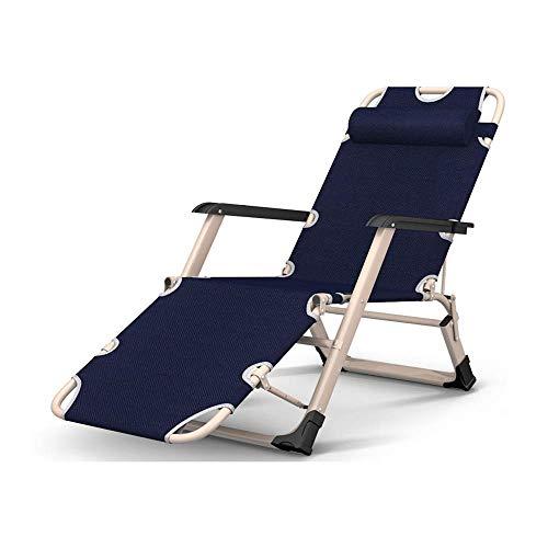WSDSX Silla reclinable Plegable Sillón reclinable Plegable, Zero Gravity Camping Sillón Plegable para Patio al Aire Libre, Playa, jardín, Silla de Pesca para el Sol, Almuerzo, Descanso, Perezoso