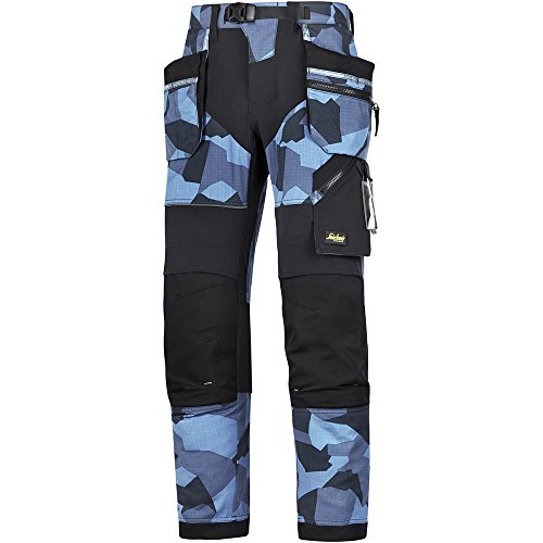 Snickers Workwear 69020404044 FlexiWork werkbroek + m. HP 192 Navy-camo-zwart