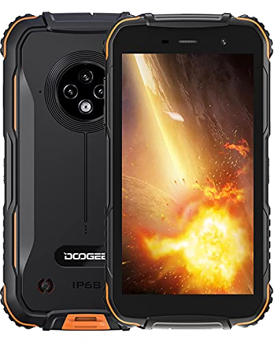 DOOGEE S35 [2021] Movil Resistente Agua y Golpes, 4350mAh Batería, 4G Moviles Baratos Android, 13MP Triple Cámara, 5.0 Corning Gorilla Glass Pantalla, 2GB + 16GB Smartphone Antigolpes, GPS, Naranja