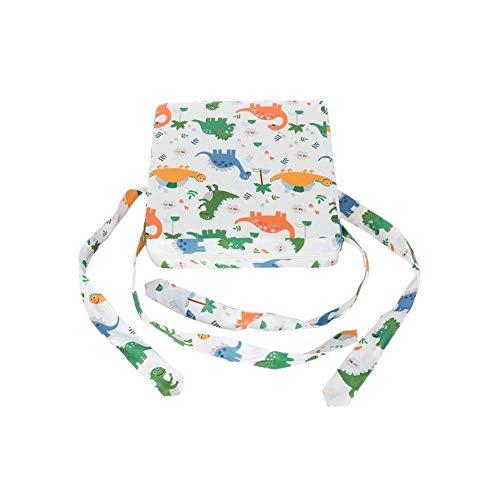 Cuscino del Sedile rialzabile Seggiolone per Bambini Cuscino per Sedile Portatile Booster Sedia da Pranzo Studente Regolabile Dinosauro Stampa Elefante