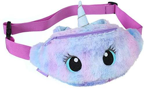 Laahoem Riñonera de Unicornio Tie-dye Cadera Cofre Culo Bolso Mochila de hombro Lindo Gracioso Niños Niñas Paquete de cinturón Big Eye Violet