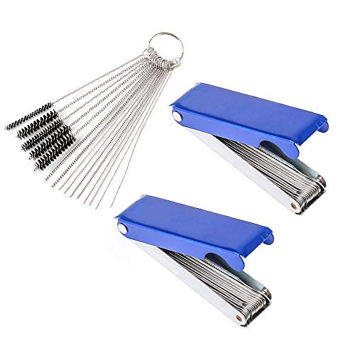 Set of 3 Carburetor Carbon Dirt Jet Remove Cleaner 26 Cleaning Wires Set + 10 Cleaning Needles + 5 Nylon Brushes Tool Kit