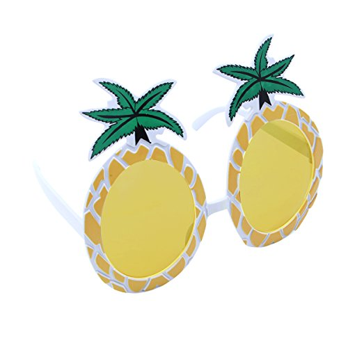 LUOEM Ananas Brillen Neuheit Brillen Sonnenbrillen Hawaii Luau Party Supplies Sommer Tropical Beach Party Dekoration (gelb)