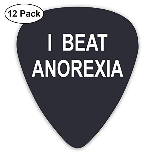 I Beat Anorexia Einzigartiges Gitarrengeschenk für Bass-, E- und Akustikgitarren