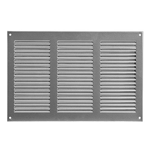 Rejilla de ventilación con protección contra insectos, 300 x 200 mm, color gris