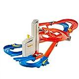 Hot Wheels FXN21 - Auto Lift Expressway Track Set mit batteriebetriebenen Looping, Spielzeug ab 5 Jahren -