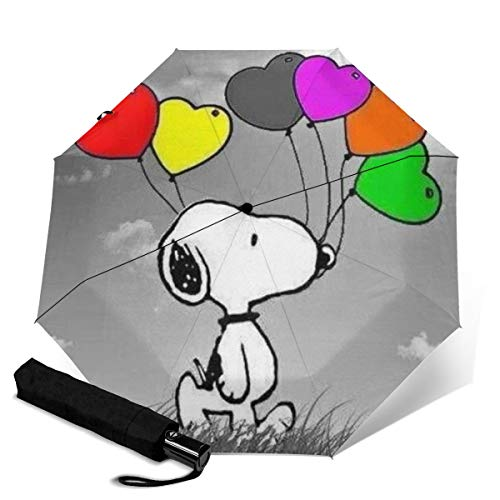Snoopy Automatischer Dreifach Faltbarer Regenschirm Unisex Bedruckter Regenschirm Manueller Regenschirm Tragbarer Regenschirm