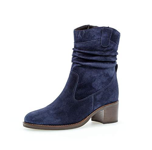 Gabor Damen Elegante Stiefeletten, Frauen Klassische Stiefelette,Best Fitting, reißverschluss Stiefel Boot halbstiefel Bootie,Marine,40 EU / 6.5 UK
