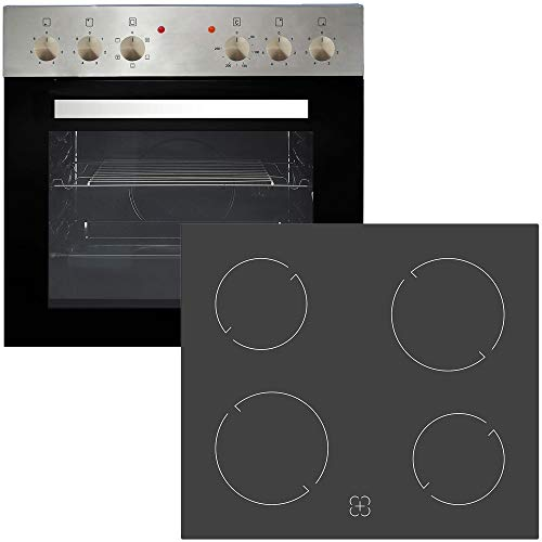 Pkm Einbauherdset Glaskeramik Edelstahl BIC4 GKU IX 4