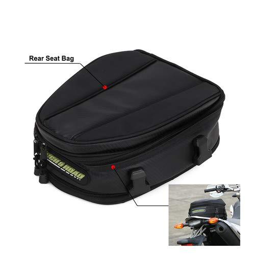 Bolsa universal de cola de moto/bolsa de asiento impermeable multifuncional de piel sintética para casco de moto, bolsa de almacenamiento, mochila de ciclismo