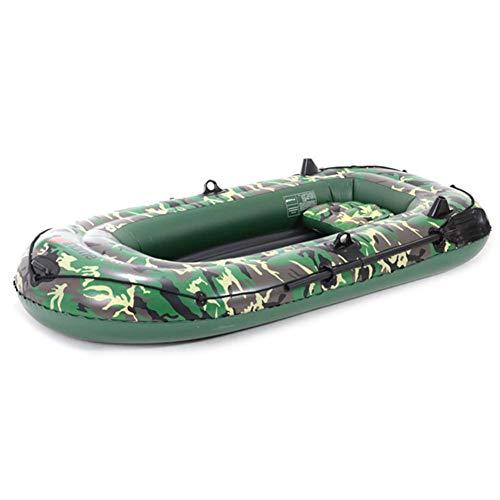 10ft 2/3/4 Gommone Set, Outdoor Gonfiabile Kayak con Pompa Ad Aria per Remi Portable Durevole PVC Kayak Canoa Set Peschereccio per Lakes Rafting, Viaggio Padre-Figlio attività