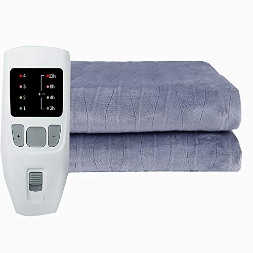 YYSYN Heated Blanket Electric Throw, Flannel Electric Blanket With 10 Heating Levels Auto Off, Overheating Protection Heated Throw, Machine Washable
