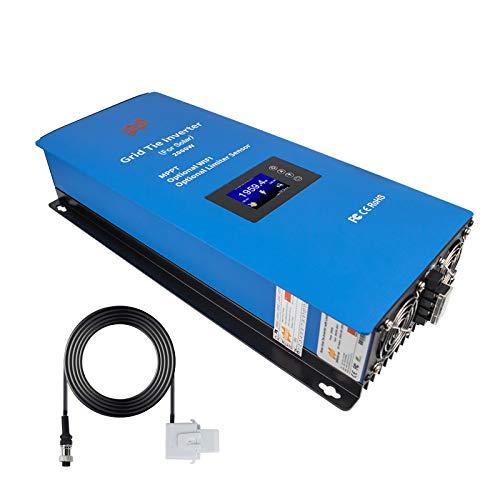Marsrock 2000W MPPT Solar Grid Tie Inverter Power Limiter Sensor Wide DC Input Voltage 45-90VDC(Solar Vmp 60V 72V) AC Output 185-265V for US Grid 240V(120V+120V) Optional WiFi (2000G2US240) (No WiFi)