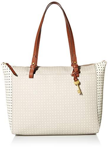 Fossil Women's Rachel Faux Leather Tote Handbag, Hearts