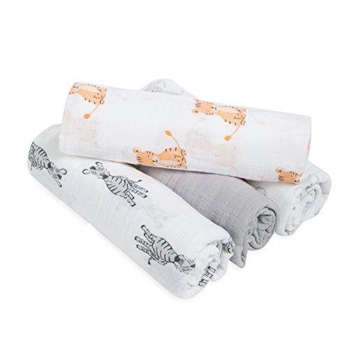 Musselin aus 100/% Baumwolle Rand aus Satin aden anais petal blooms 2er Pack Schmuset/ücher 40cm X 40cm