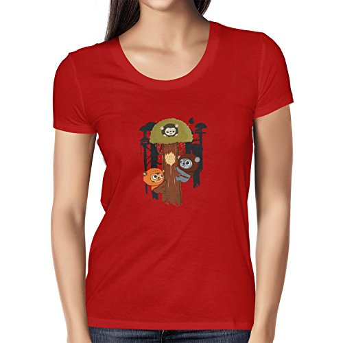 Texlab Damen Ewok Community T-Shirt, Rot, L
