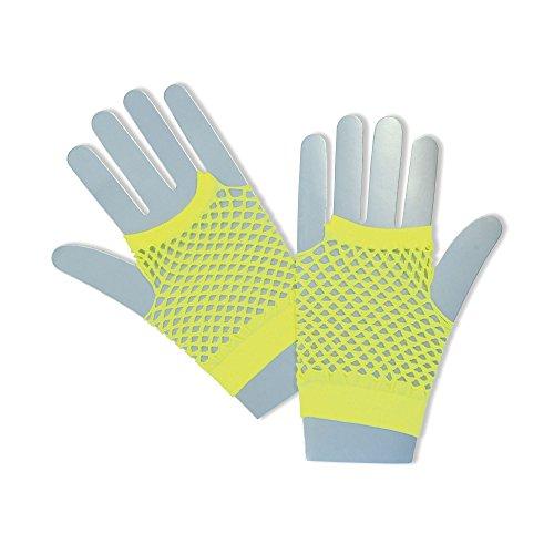 Bristol Novelty BA573 Handschuhe aus Netz, Neon-Gelb