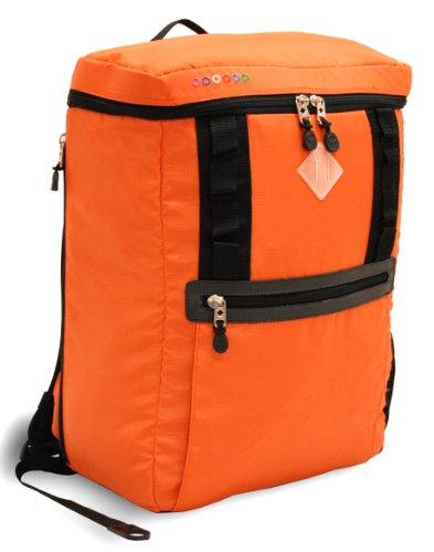 J World New York Rectan Laptop Backpack, Orange, One Size
