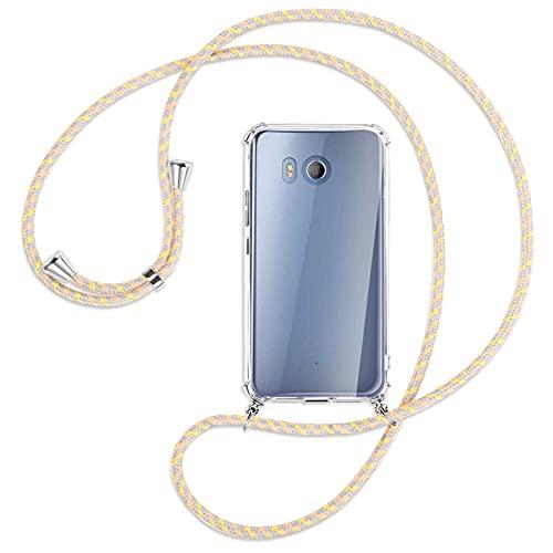 mtb more energy® Handykette kompatibel mit HTC U11 (5.5'') - Vintage Flowers - Smartphone Hülle zum Umhängen - Anti Shock Full TPU Hülle
