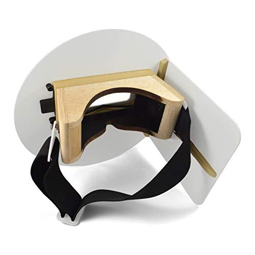 Wendy's Pancake Welding Hood Helmet w/Strap - Left Handed - White