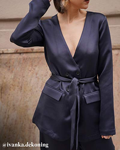 The Drop Women's @amazonthedrop Midnight Belted Waist Blazer