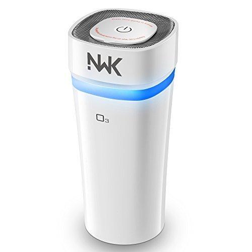 NWK Portable Cordless Ozone Generator Car Air Freshener Odor Eliminator Cigarette Smoke and Bad Odors