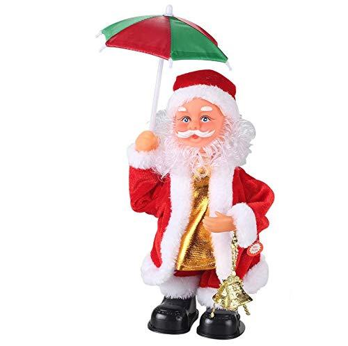 ElementDigital Christmas Dolls, Christmas Electric Vintage Animated Saxophone Dancing Music Santa Claus Doll Christmas Decorations for Home Xmas Gift for Kids (Santa + Umbrella)