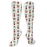 MISS-YAN - Calcetines de Papá Noel para hombre y mujer, diseño con texto...