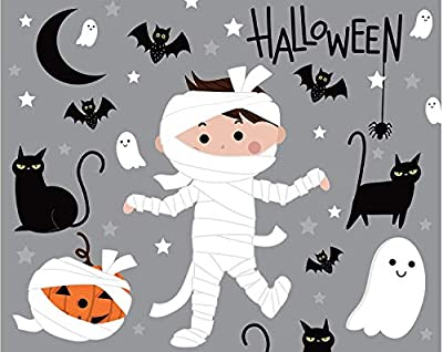 Clearstory Halloween Jigsaw Puzzles for Kids, 54-Piece Toddler Puzzle with Bright Colors, Monster Mummy, Black Cats and Pumpkins Illustrations, Made of 3-Ply Card Stock (10x8 Inches)