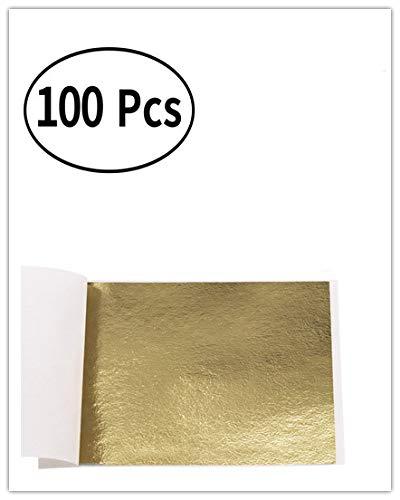 My Berg Imitation Blattgold Antique Gold 100 Stück 8x8.5cm Kunsthandwerk Kunstprojekt Möbel Gemälde Wand DIY