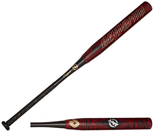 DeMarini 2015 Flipper Aftermath OG Slowpitch Bat, Black/Dark Red/Pale Gold, 34 inch/26 oz