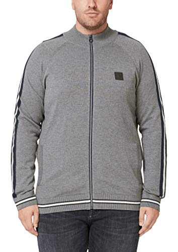 s.Oliver Big Size Herren 15.909.64.2427 Strickjacke, Grau (Blend Grey 9730), 3XL
